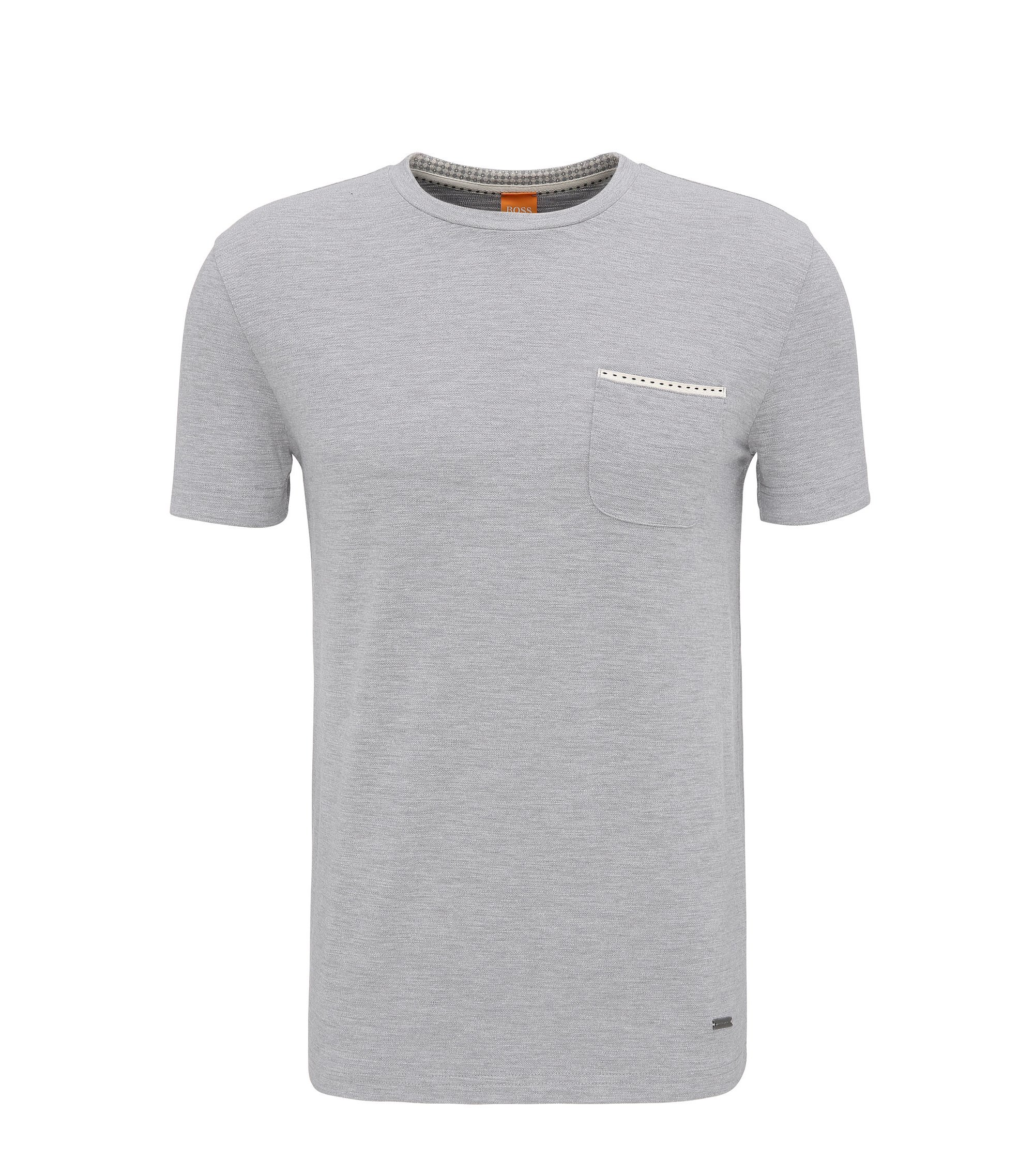 Relaxed-fit T-shirt in single jersey, Light Grey