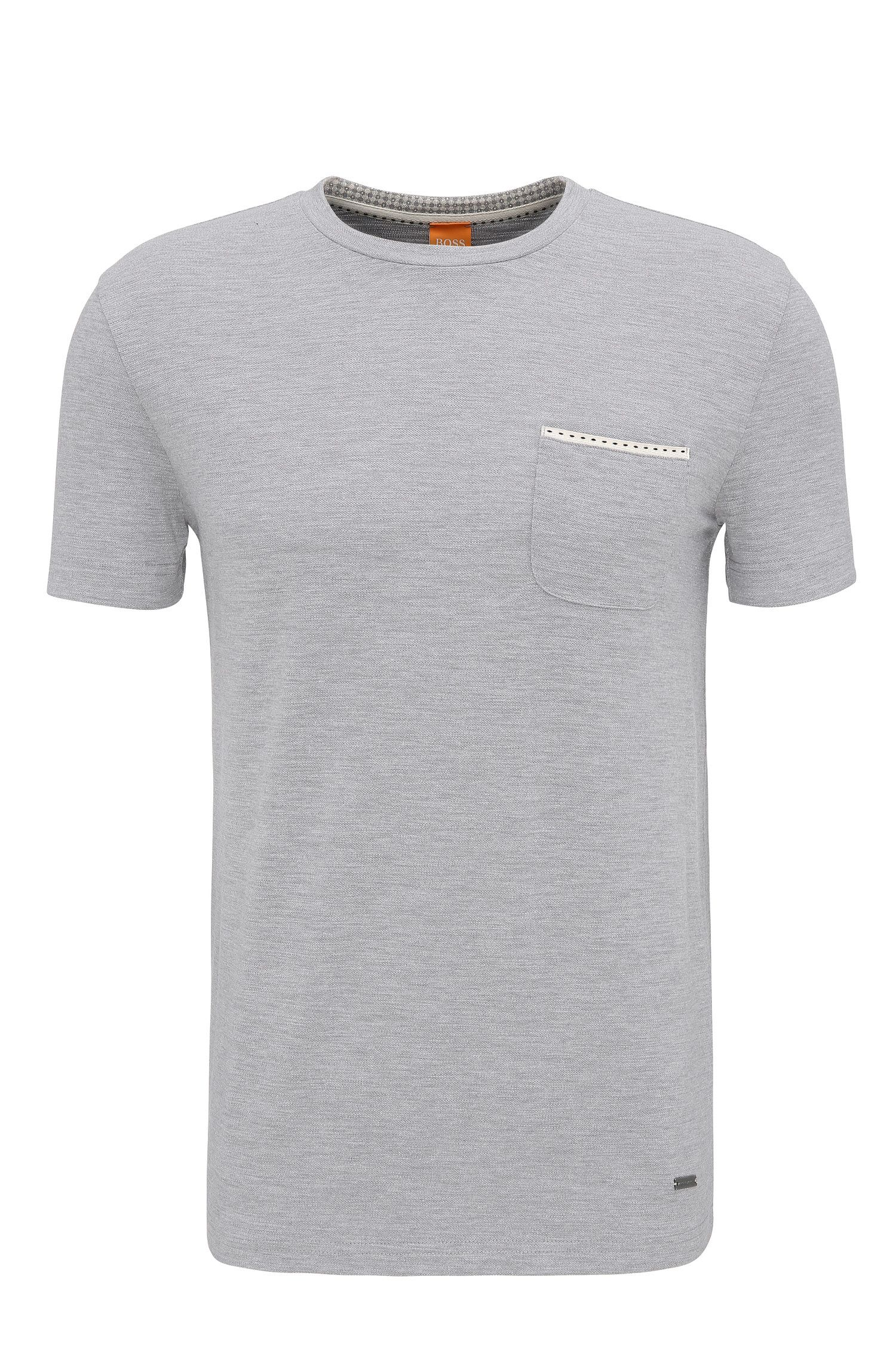 Camiseta relaxed fit en punto sencillo
