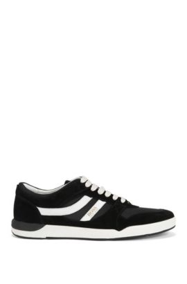Low-top trainers with Strobel construction, Black