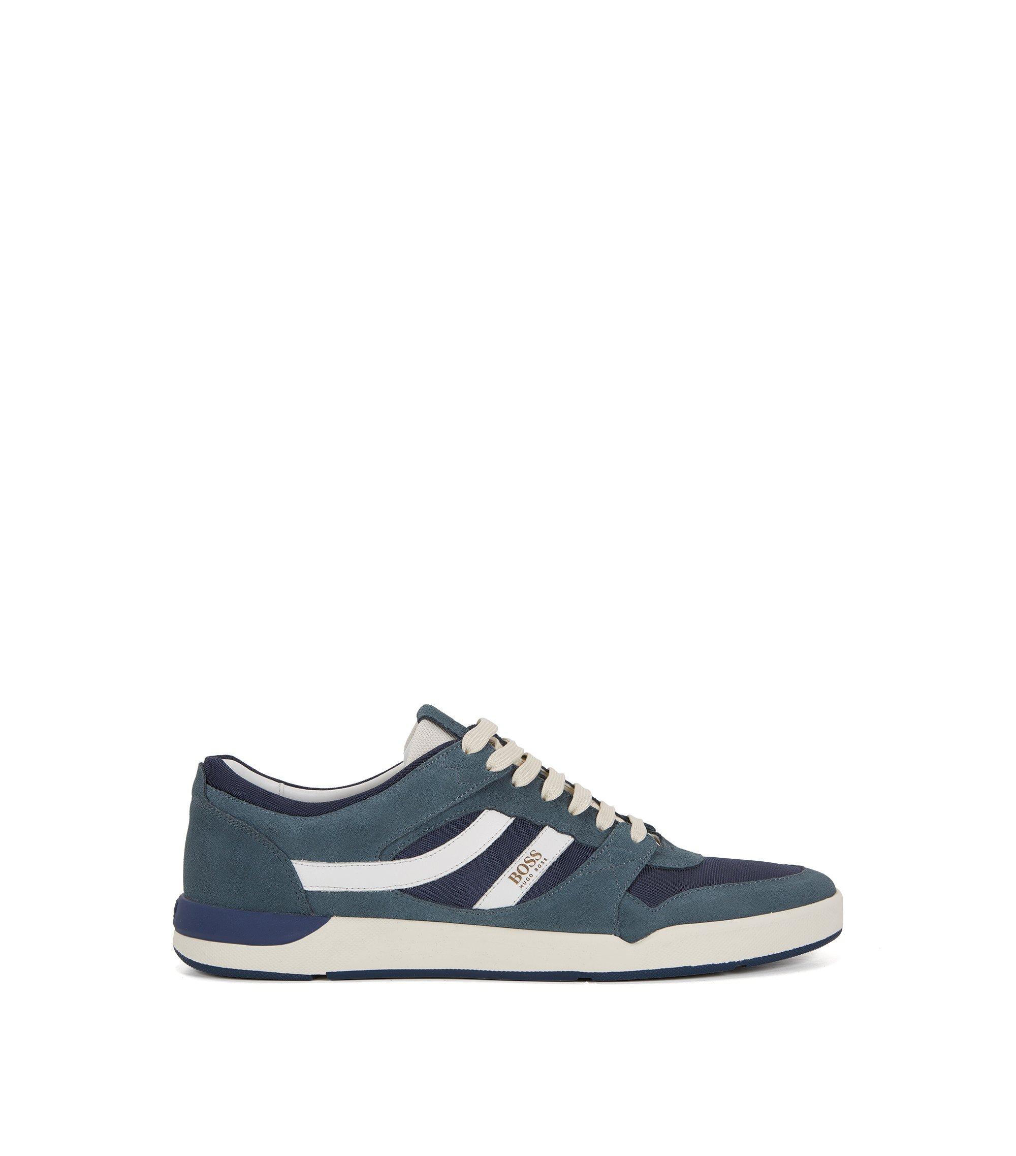 Lage sneakers met Strobel-constructie, Blauw