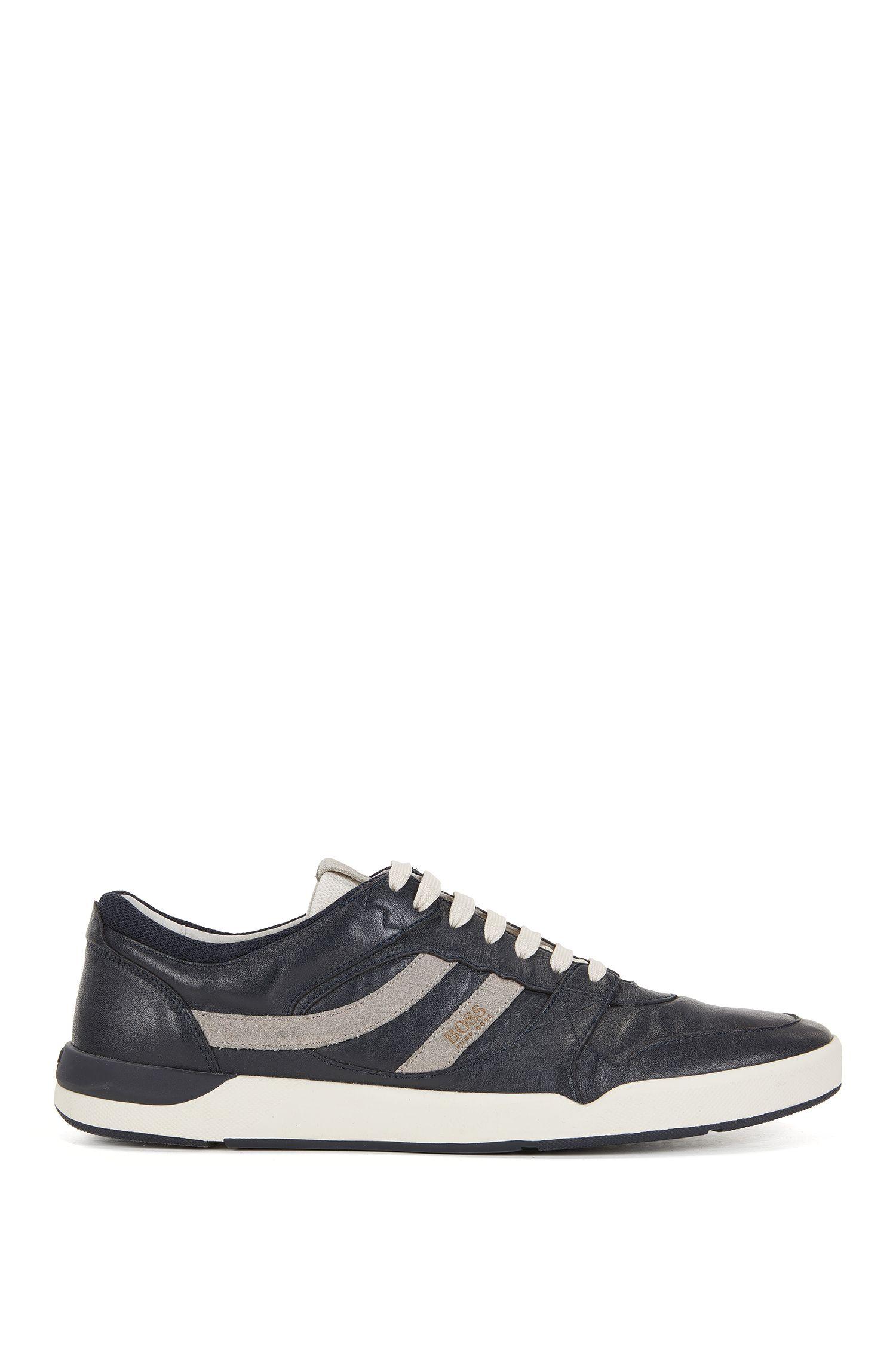 Sneakers aus gewaschenem Leder
