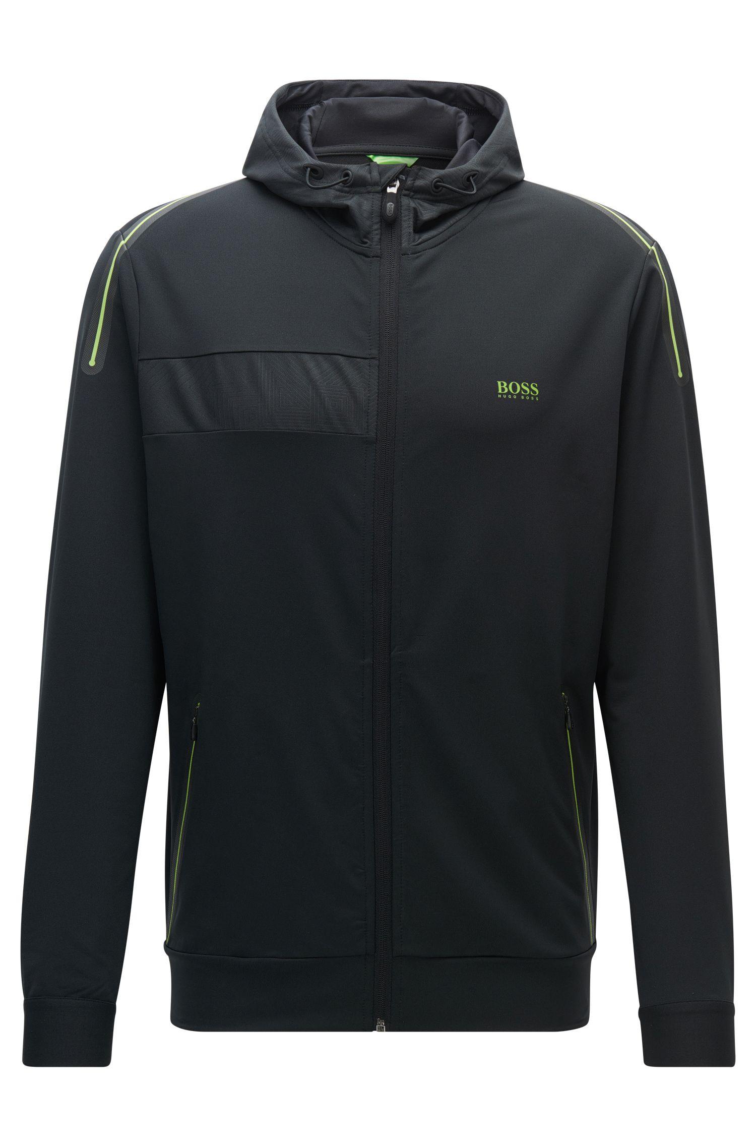 Slim-fit sweatshirt van technisch stretchmateriaal