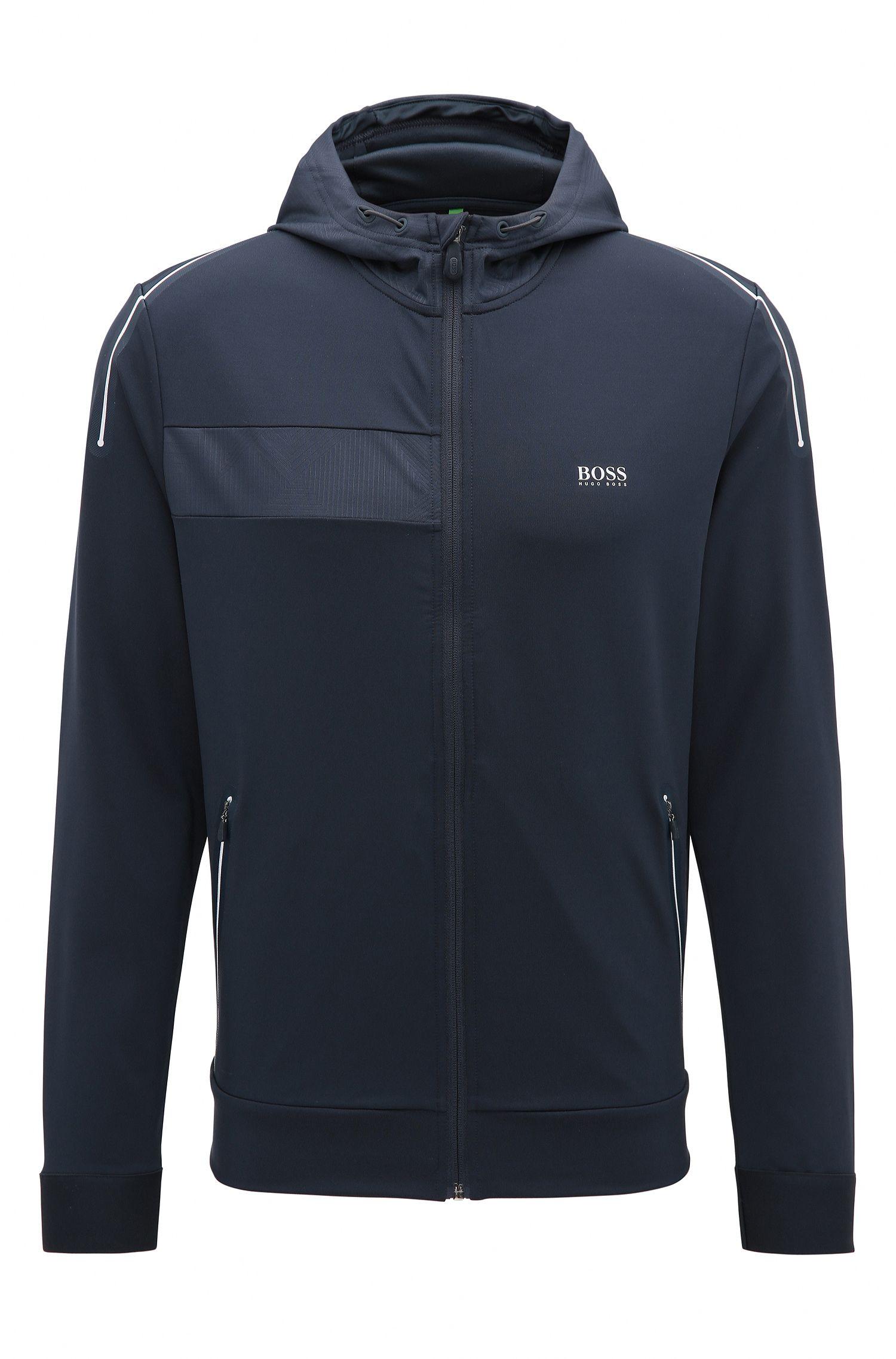 Slim-fit sweatshirt in technical stretch fabric