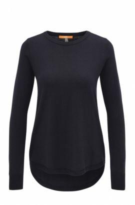 Lightweight cotton-blend sweater with structured details , Dark Blue