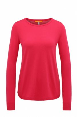 Lightweight cotton-blend sweater with structured details , Pink