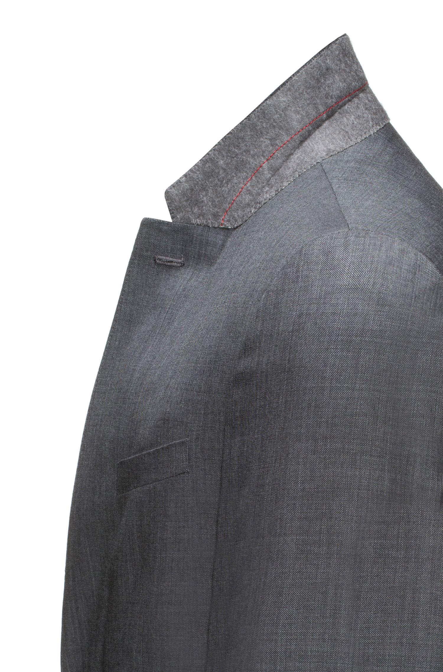 Costume Slim Fit en micro-sergé de laine vierge