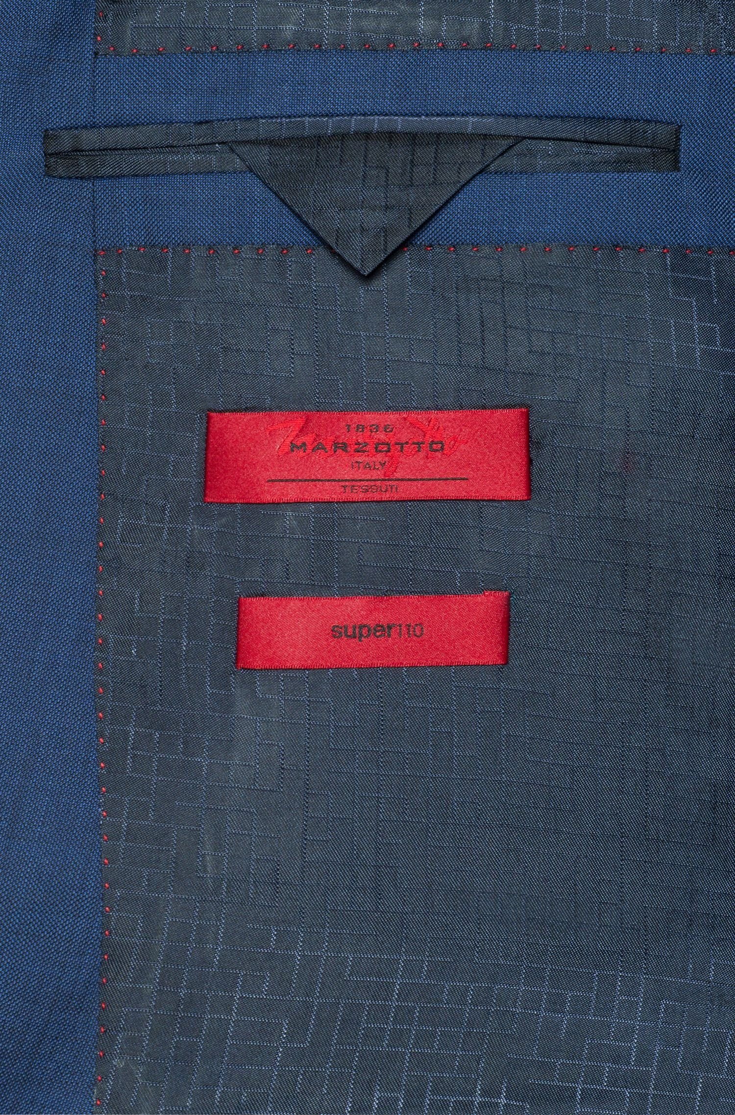 Slim-fit kostuum van een micro-twill van scheerwol