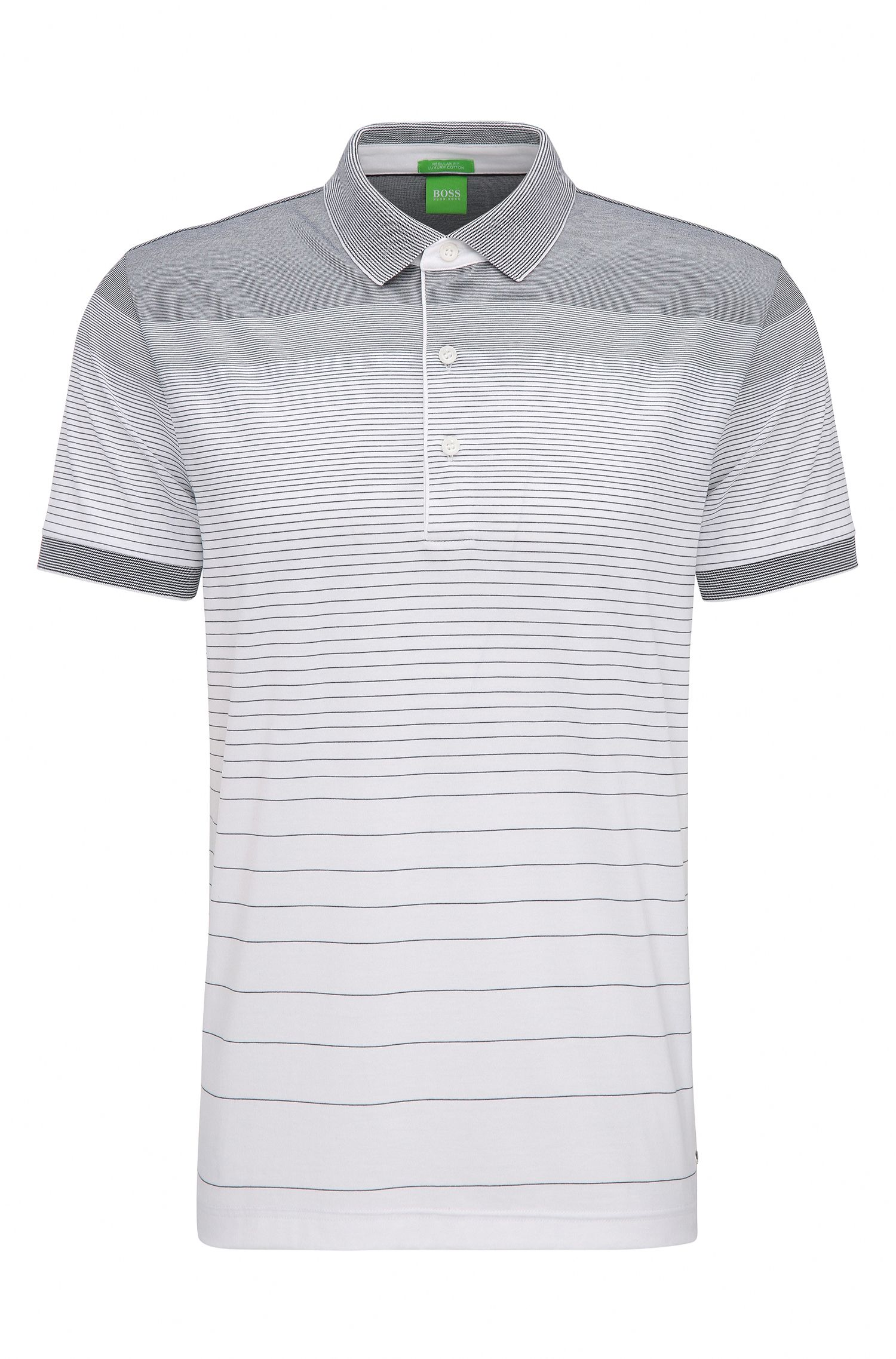 Regular-fit cotton polo shirt with gradient