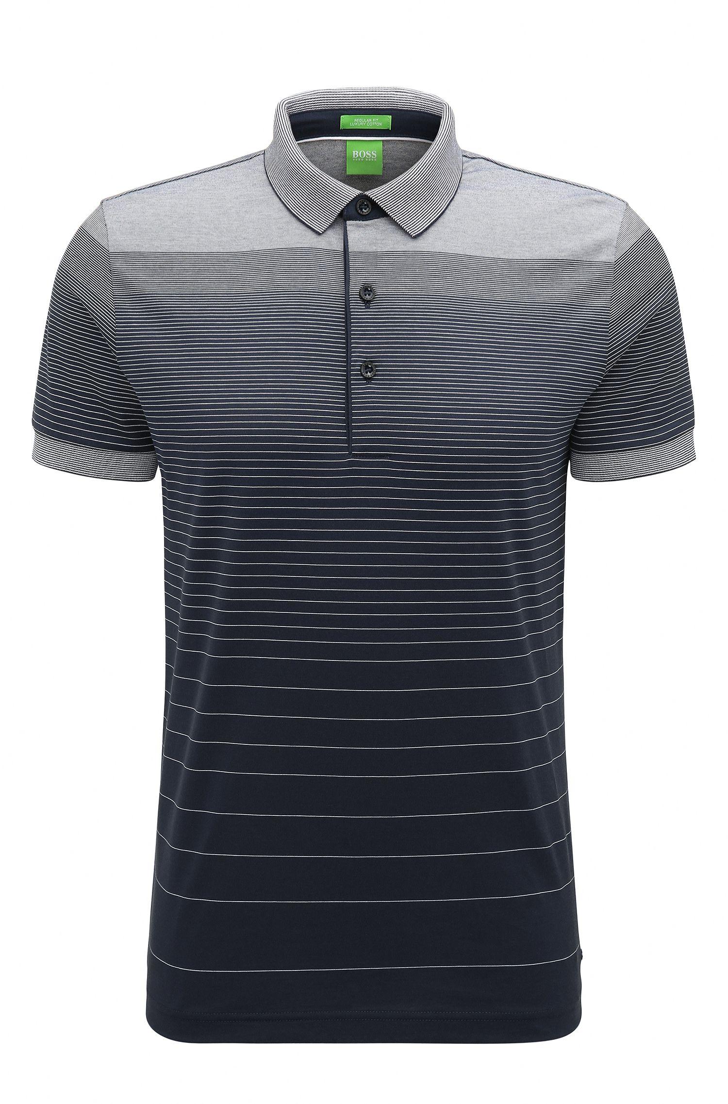 Polo in cotone regular fit con colori sfumati