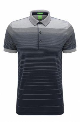 Regular-fit cotton polo shirt with gradient, Dark Blue