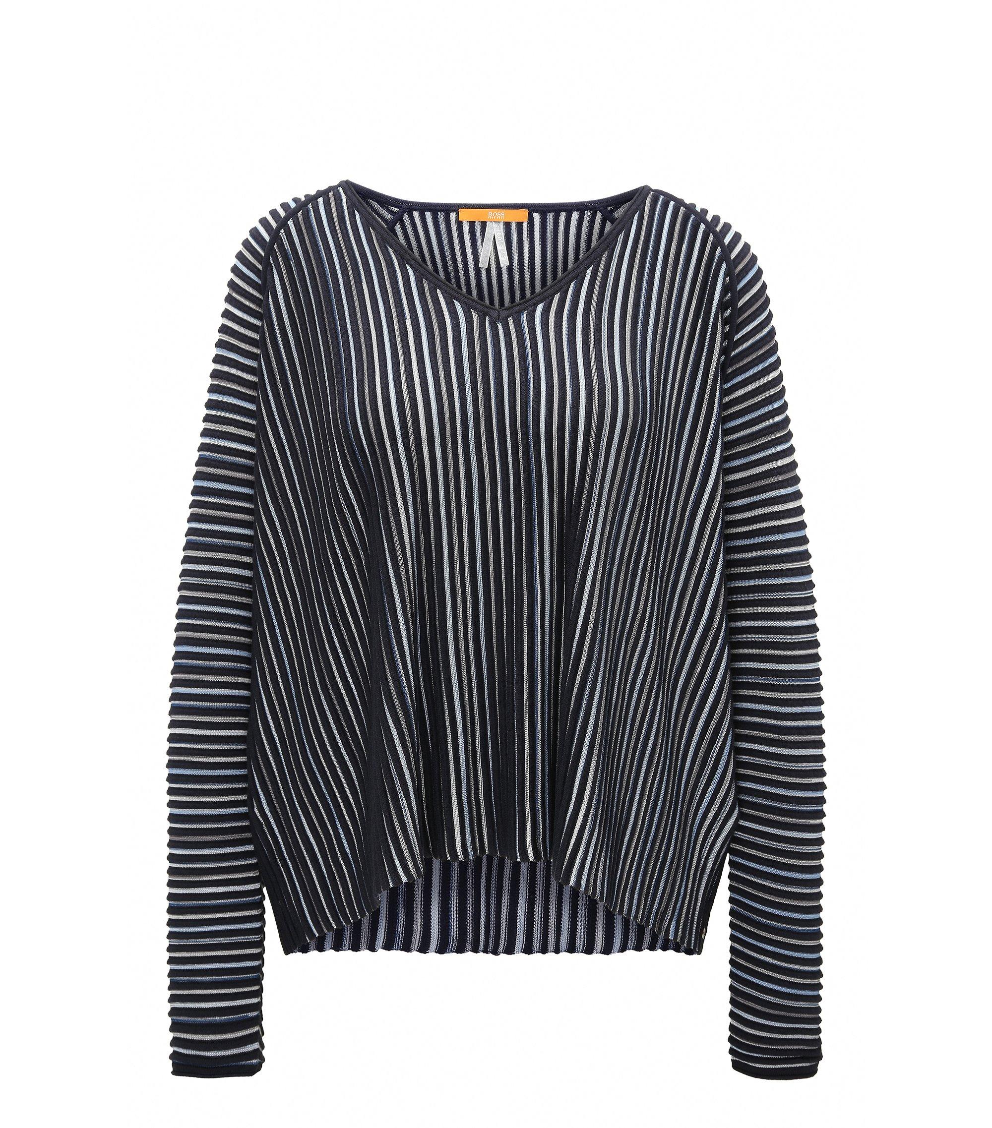 Relaxed-fit trui van gestructureerd materiaal, Donkerblauw