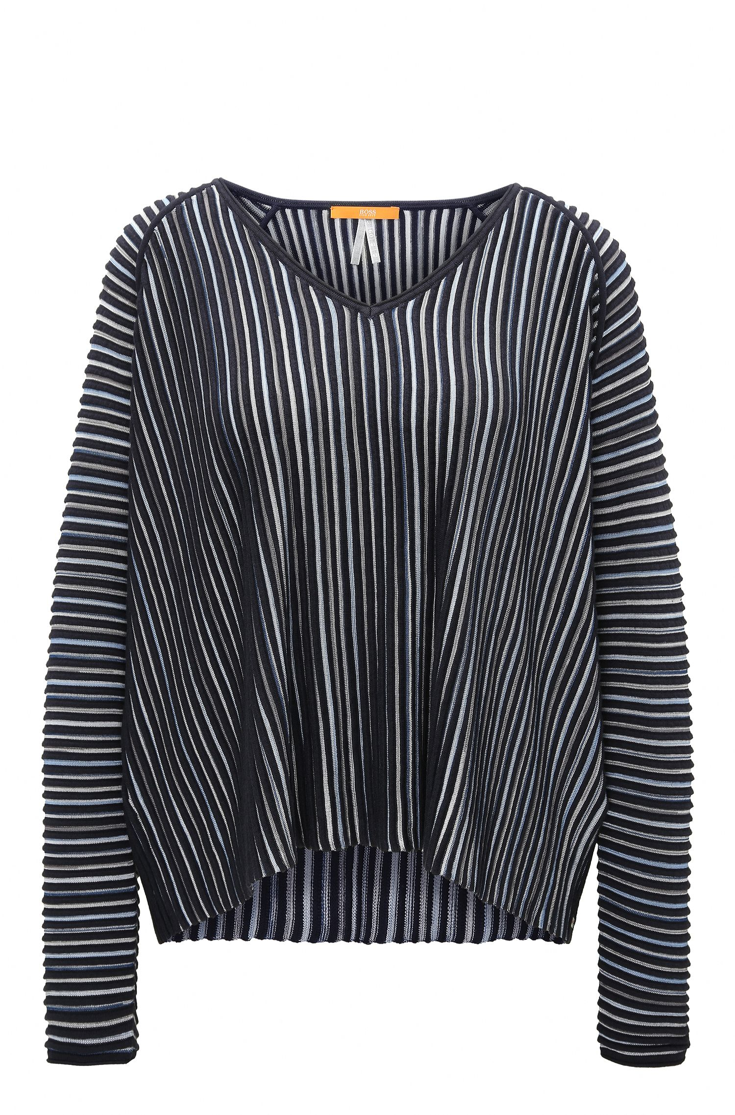 Relaxed-fit sweater in structured fabric