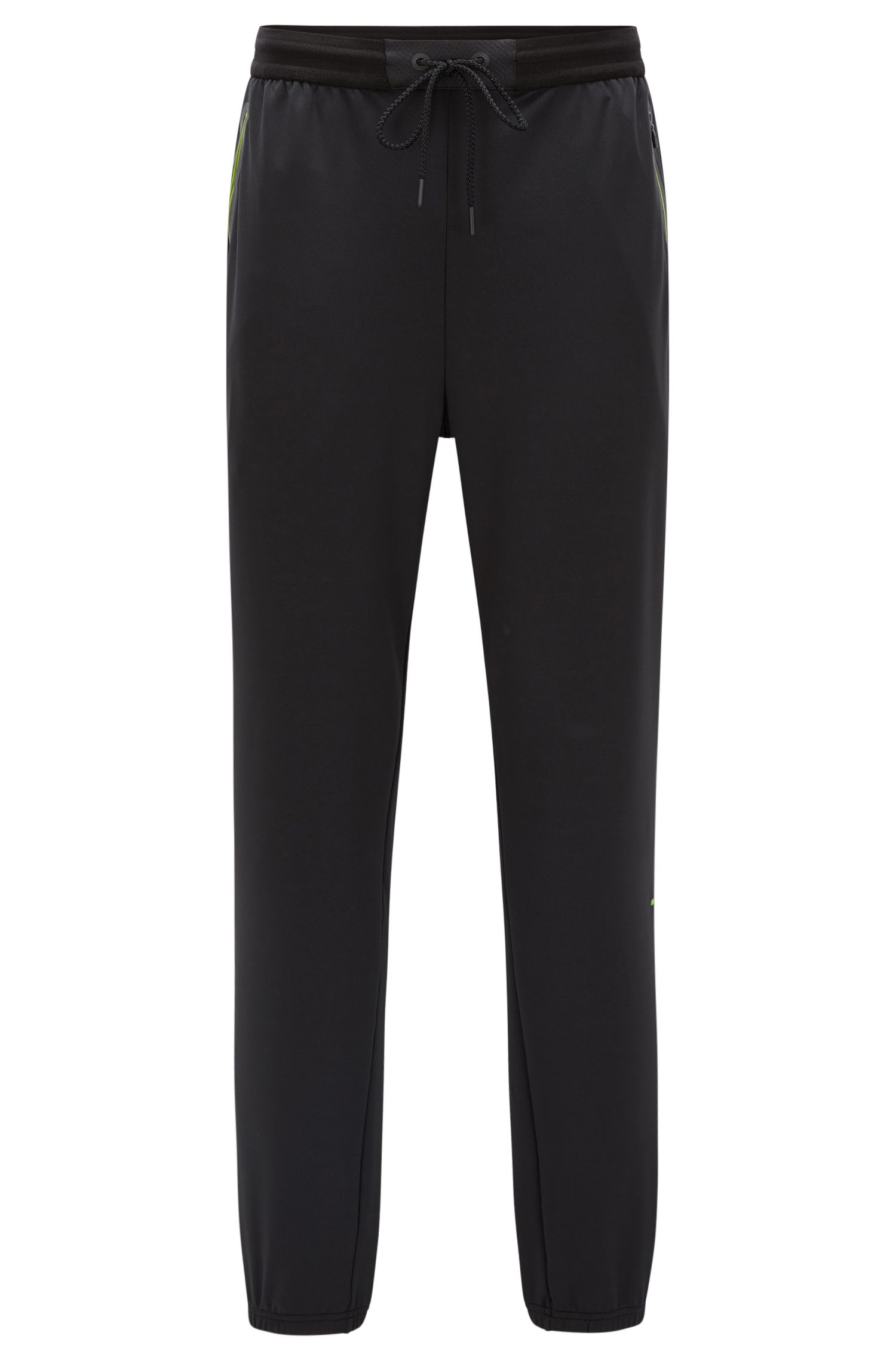 Slim-fit jersey trousers in technical fabric