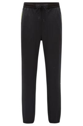 Pantalon Slim Fit en jersey de tissu technique, Noir