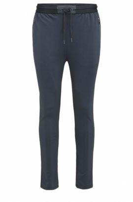 Slim-fit jerseybroek van technisch materiaal, Donkerblauw