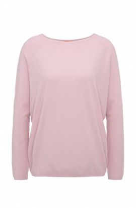 Lightweight relaxed-fit sweater in knitted piqué, Light Purple