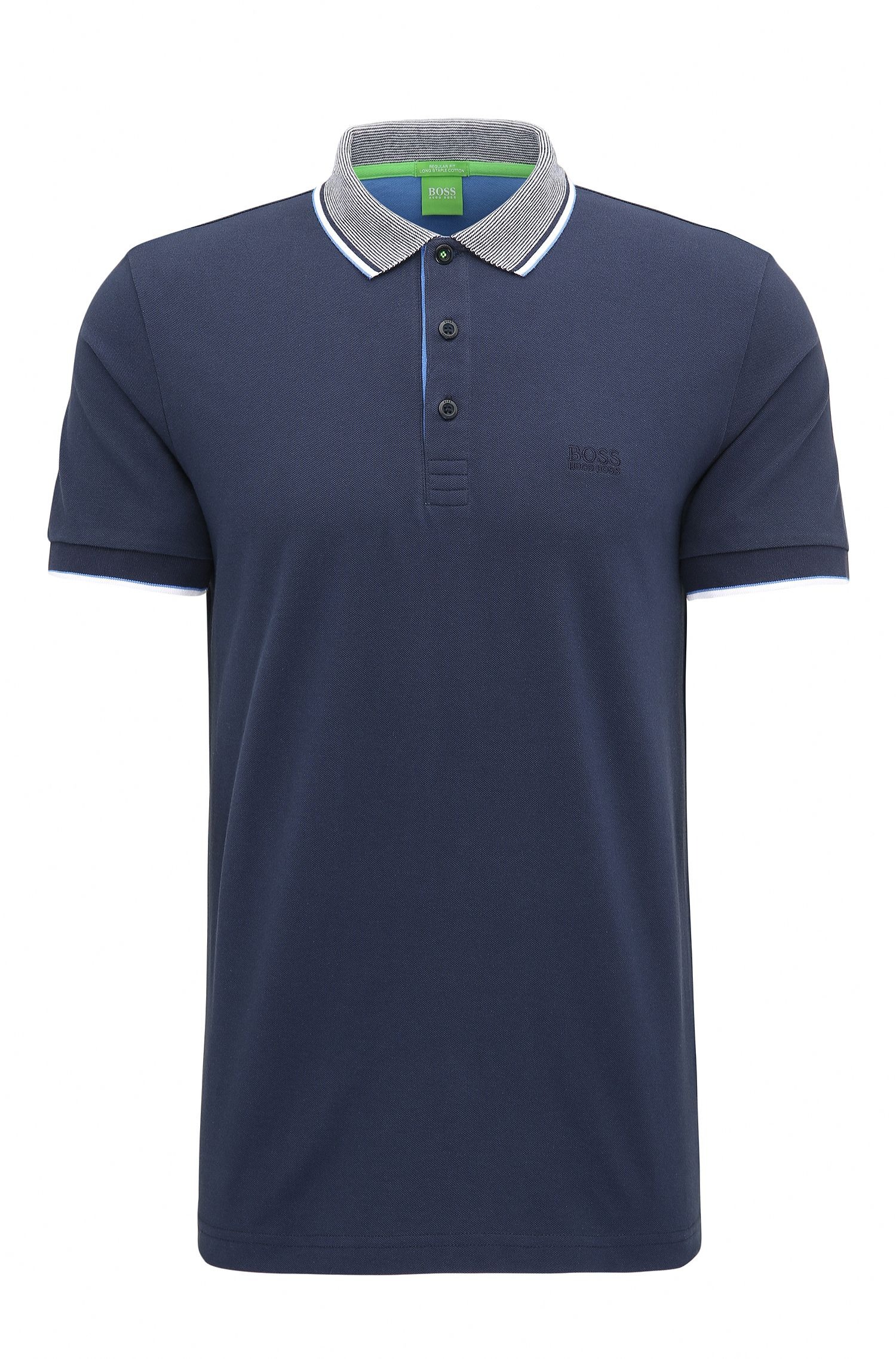 Polo regular fit en algodón de piqué