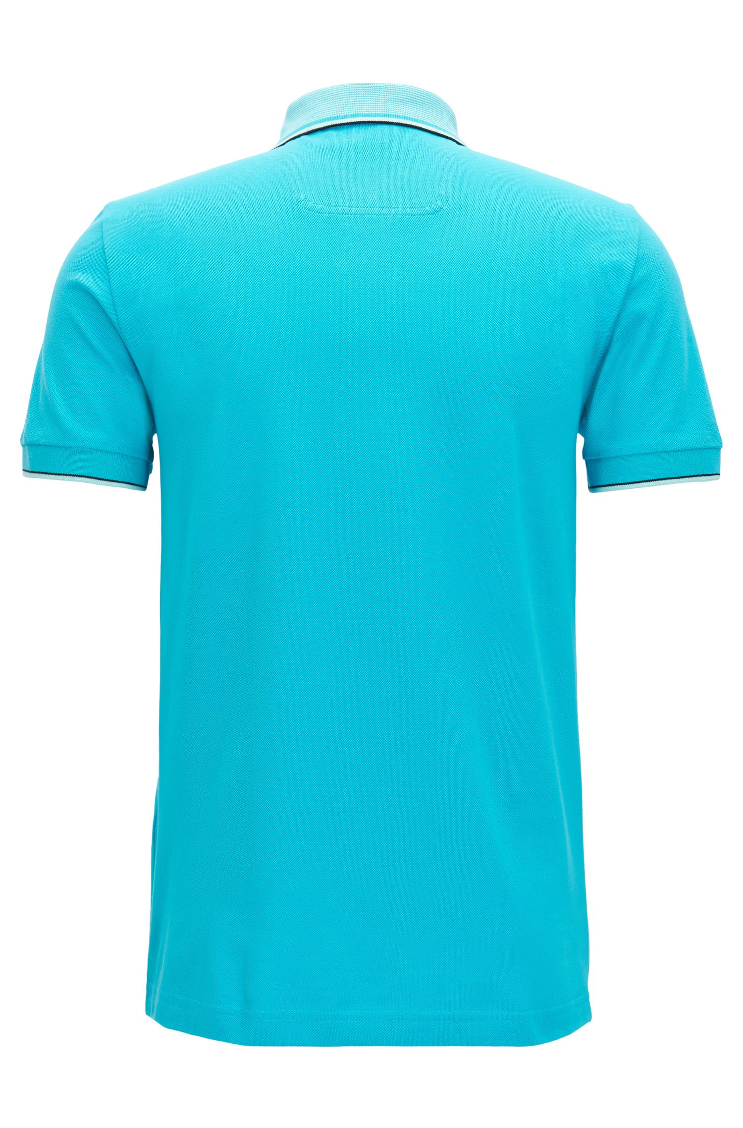 Regular-fit polo shirt in piqué cotton