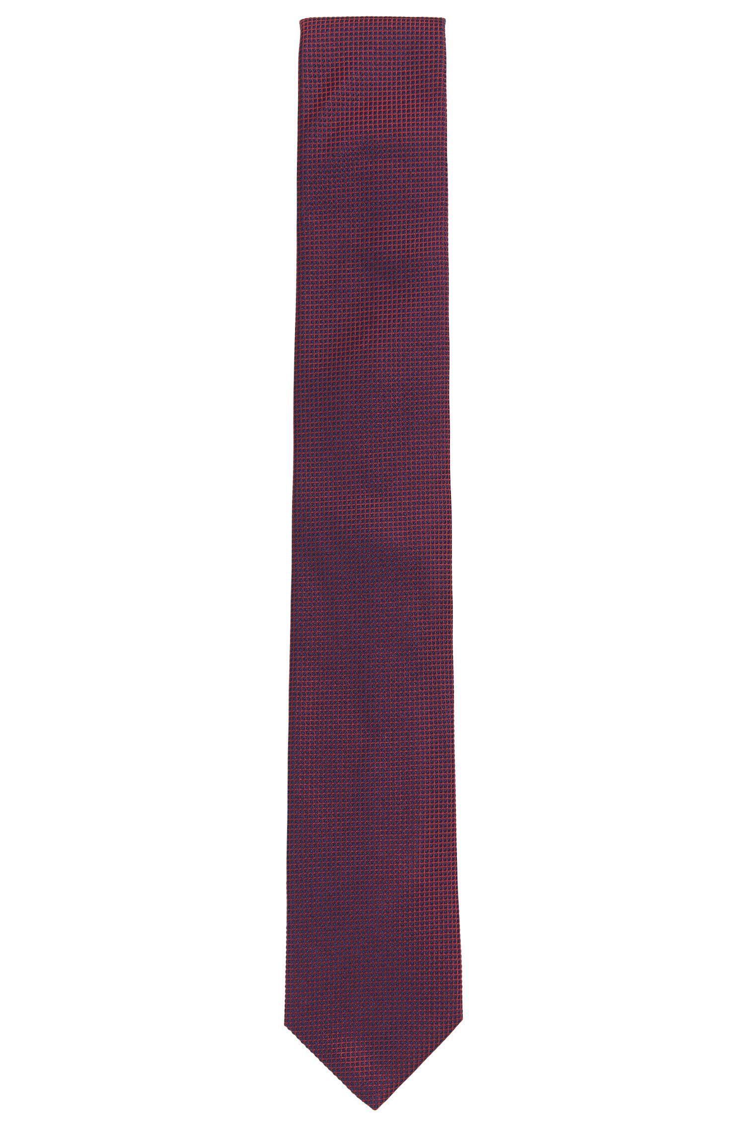 Krawatte aus Seiden-Jacquard mit grafischem Muster