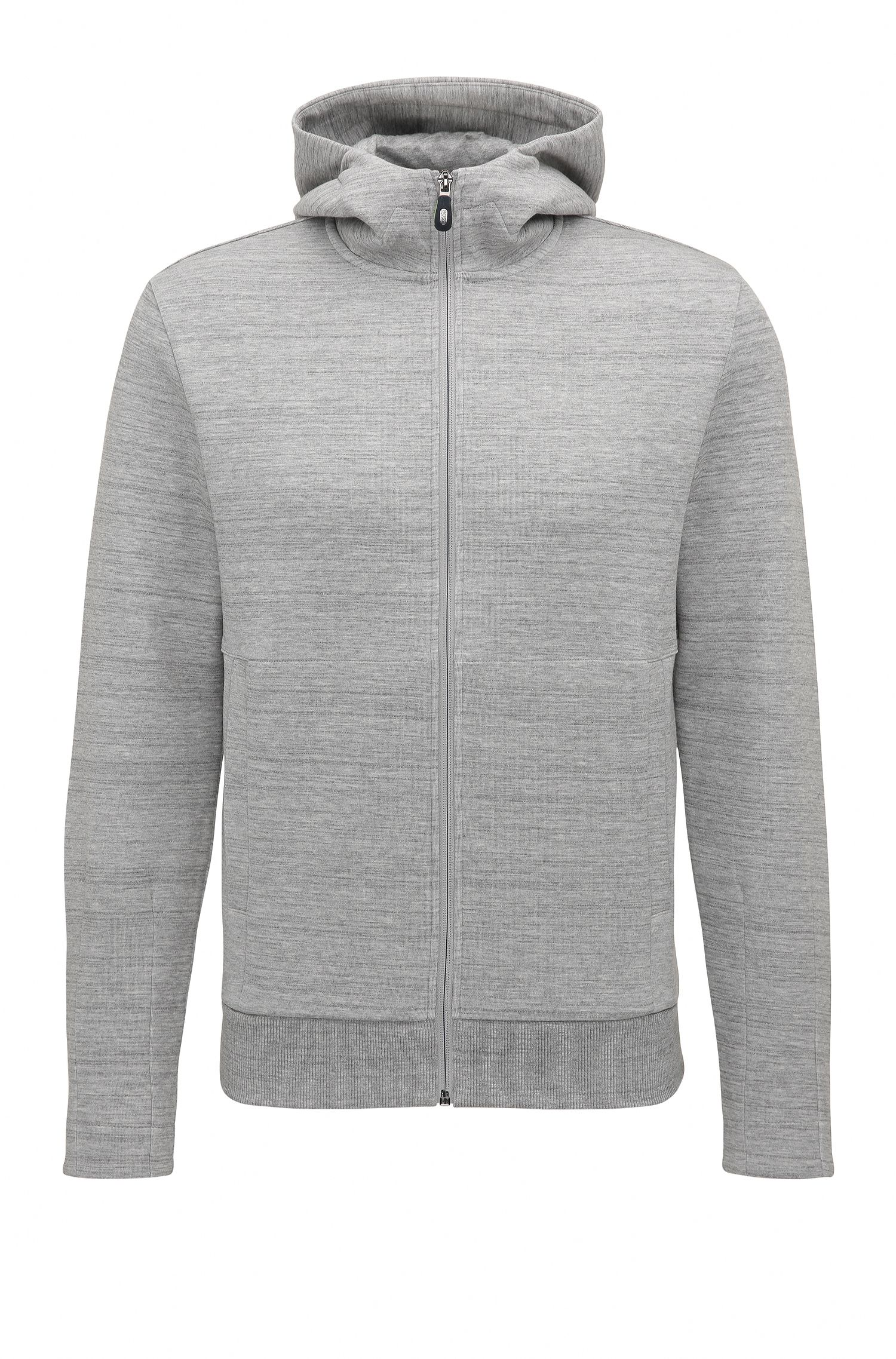 Sweat Slim Fit à capuche en coton mélangé