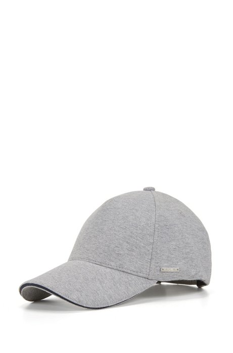 Jersey baseball cap with contrast details, Light Grey