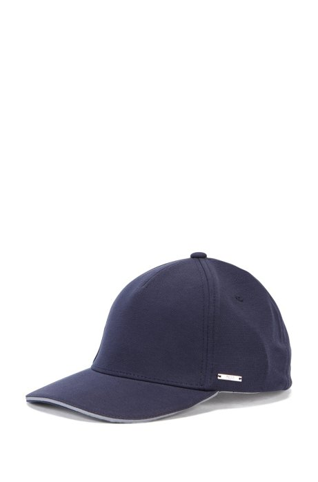 Jersey baseball cap with contrast details, Dark Blue