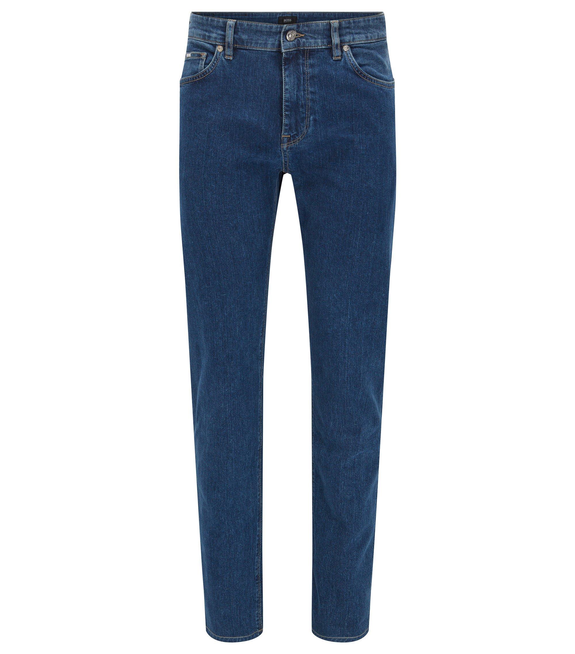 Regular-fit stonewashed jeans van stretchdenim , Blauw