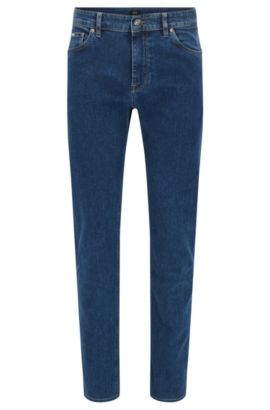 Regular-fit stonewashed jeans van stretchdenim , Blauw
