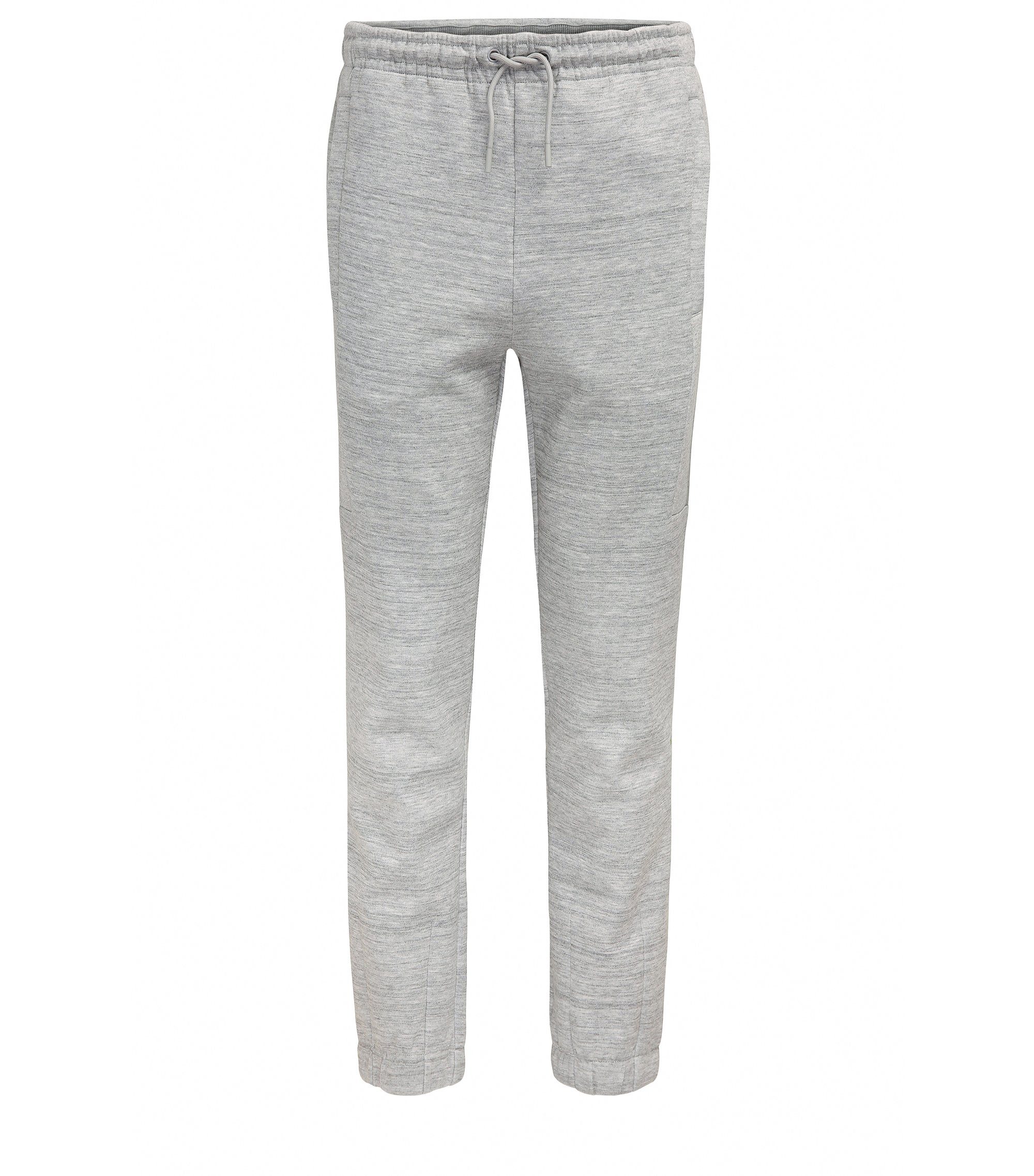 Slim-fit jersey trousers with high-density artwork, Light Grey