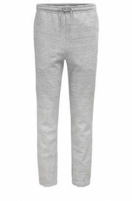 Pantalon Slim Fit en jersey, avec ornement haute densité, Gris chiné