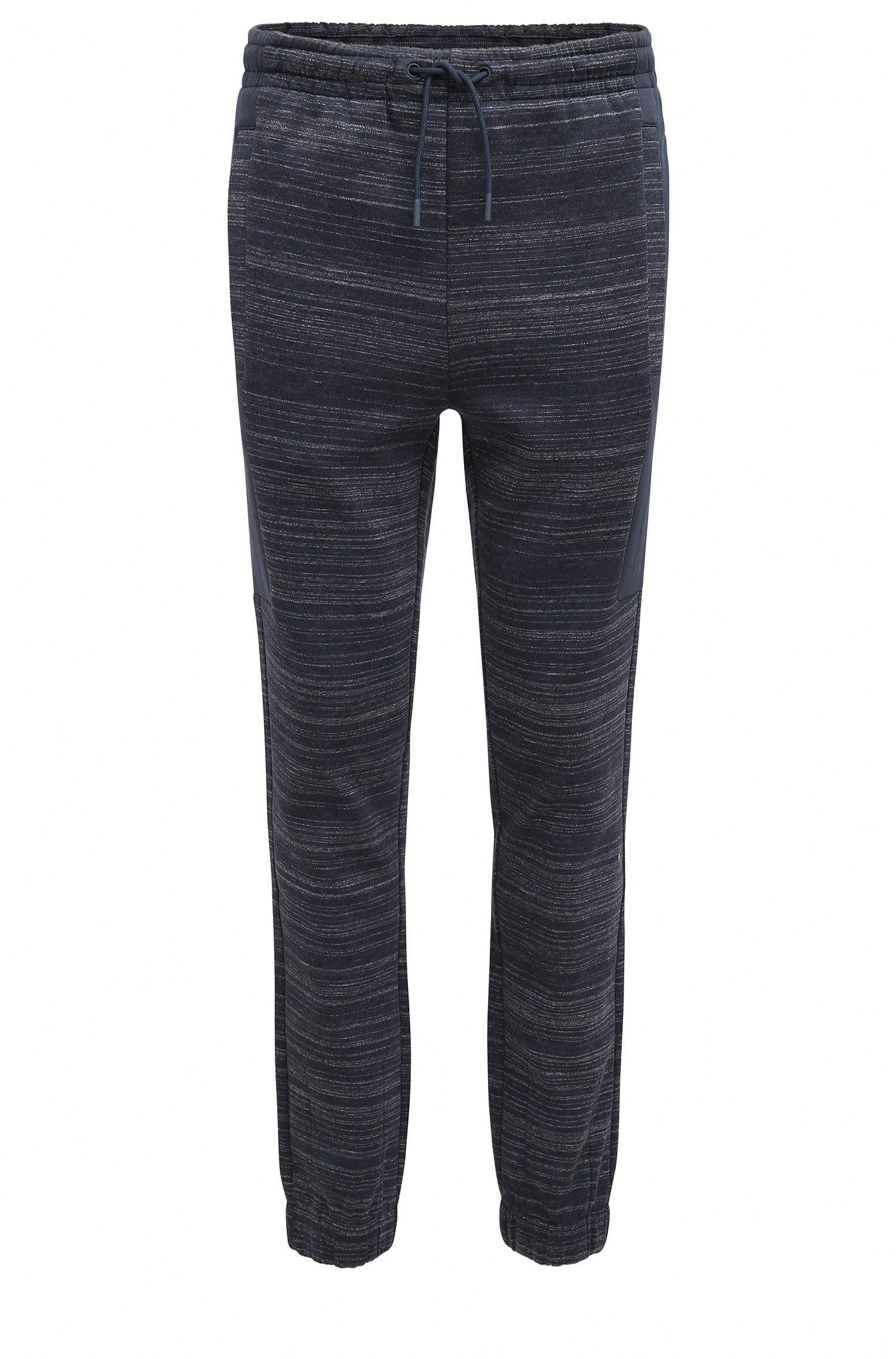 Slim-fit jersey trousers with high-density artwork