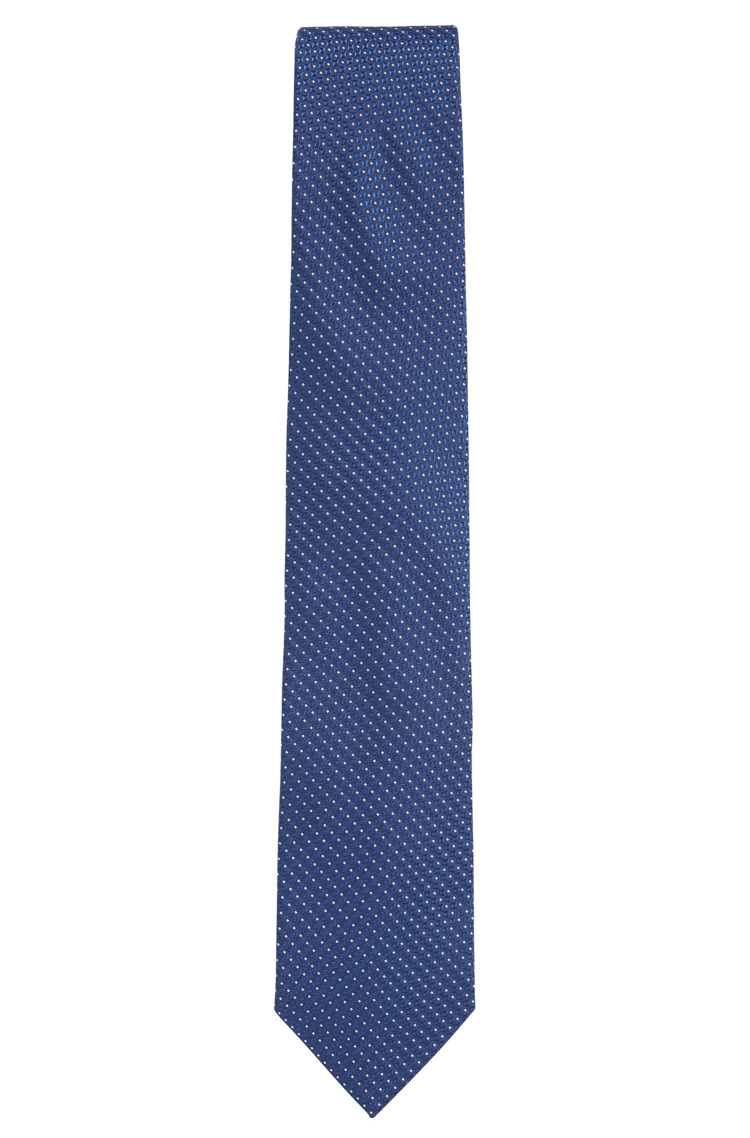 Cravatta in seta jacquard a disegni realizzata in Italia