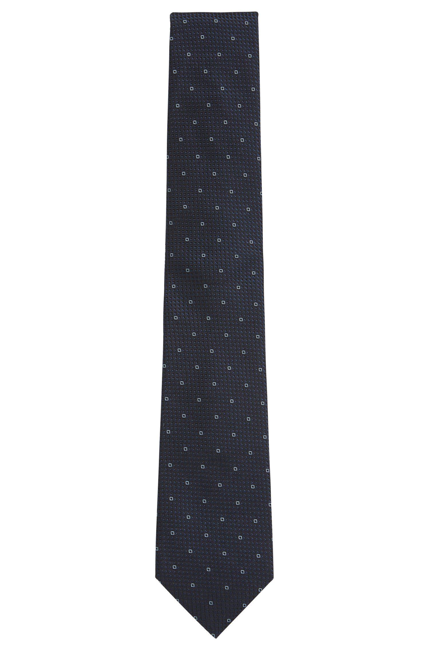 Gemusterte Jacquard-Krawatte aus Seide