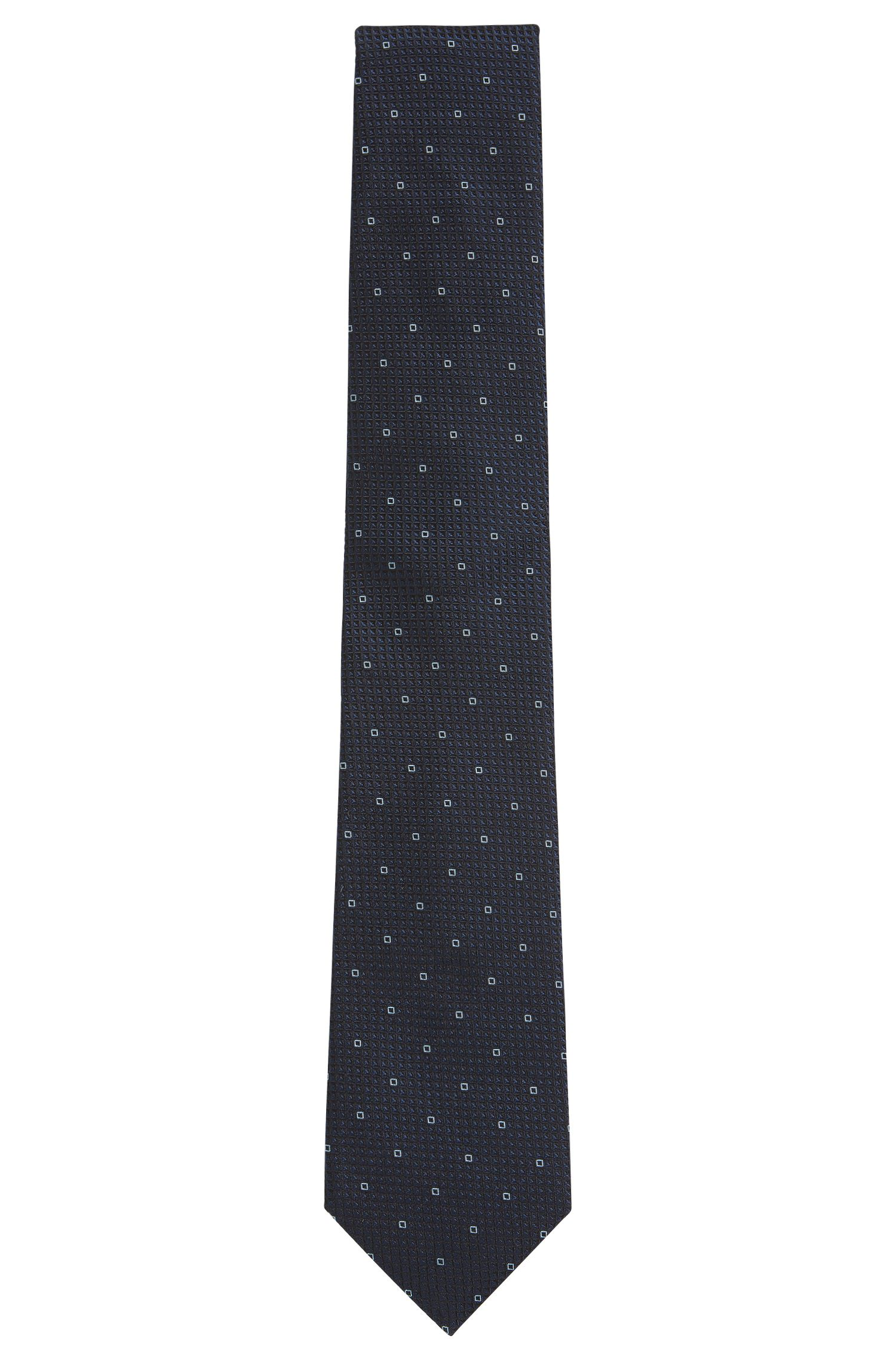 Patterned silk jacquard tie made in Italy