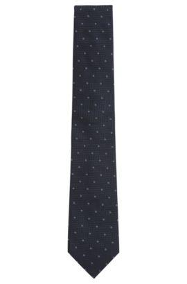 Gemusterte Jacquard-Krawatte aus Seide, Hellblau