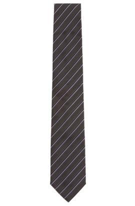 Cravate en jacquard de soie avec motif confectionnée en Italie, Violet clair