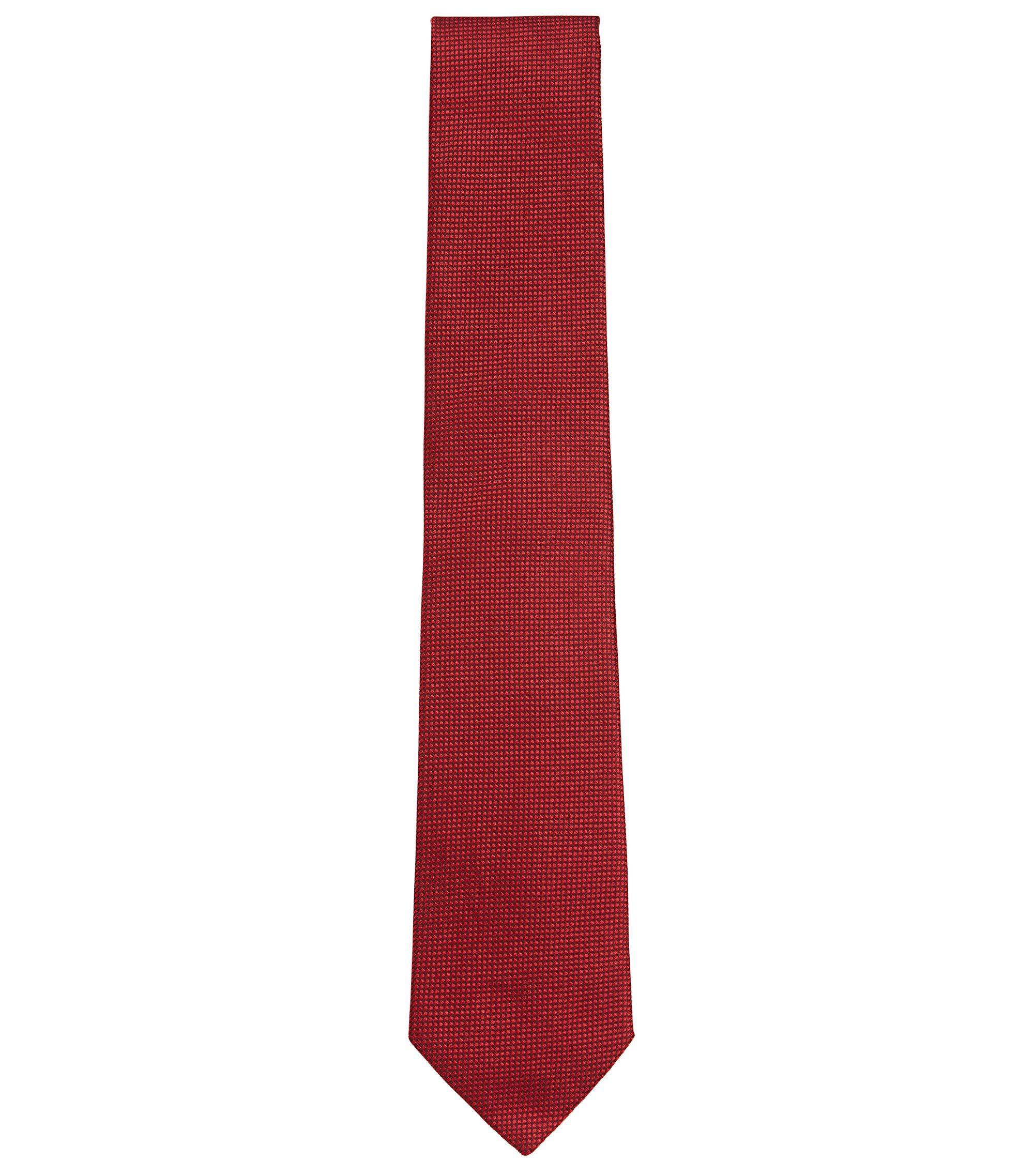 Cravatta in seta jacquard a disegni realizzata in Italia, Rosso