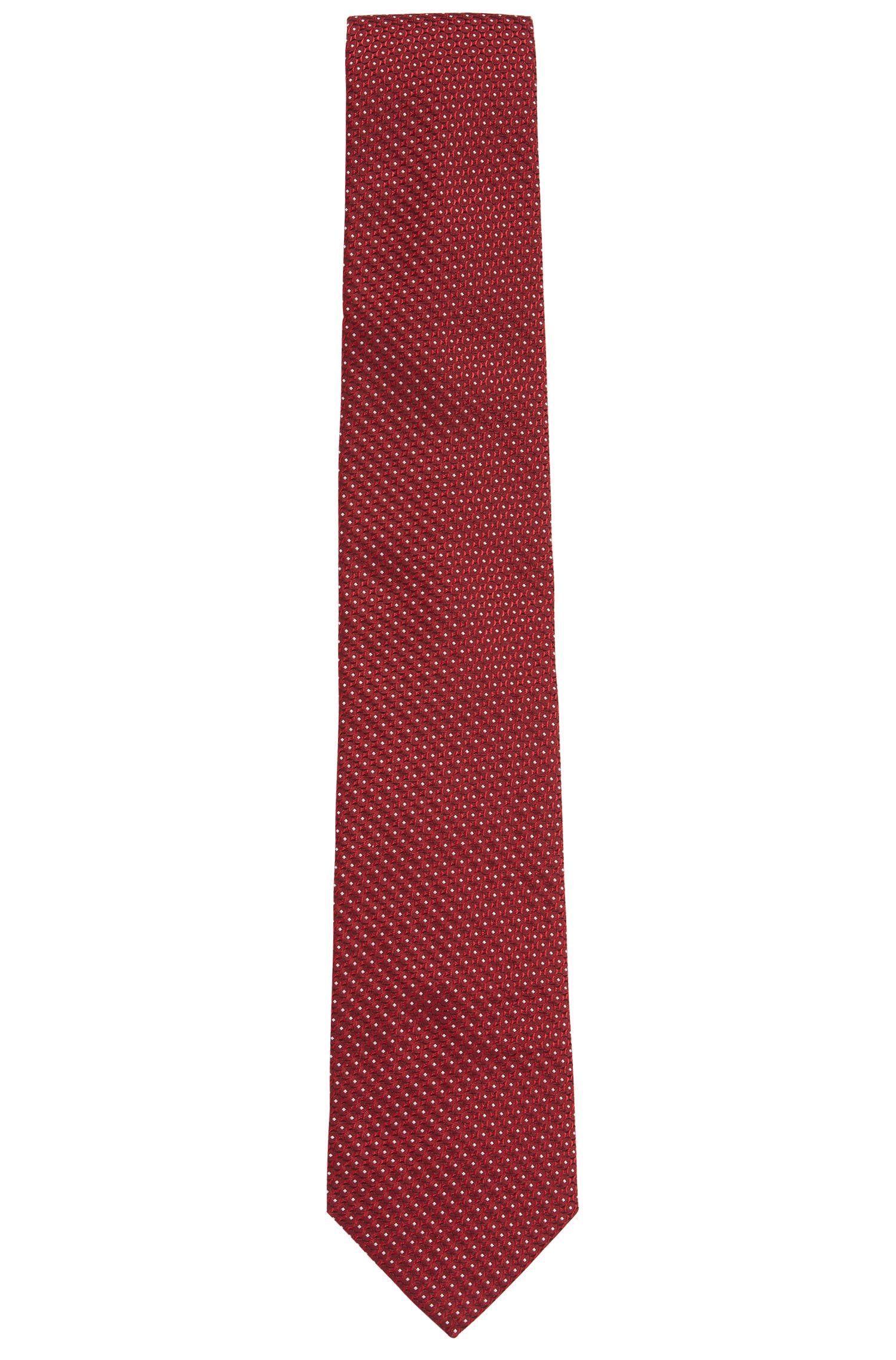 In Italië vervaardigde stropdas van zijden jacquard met dessin