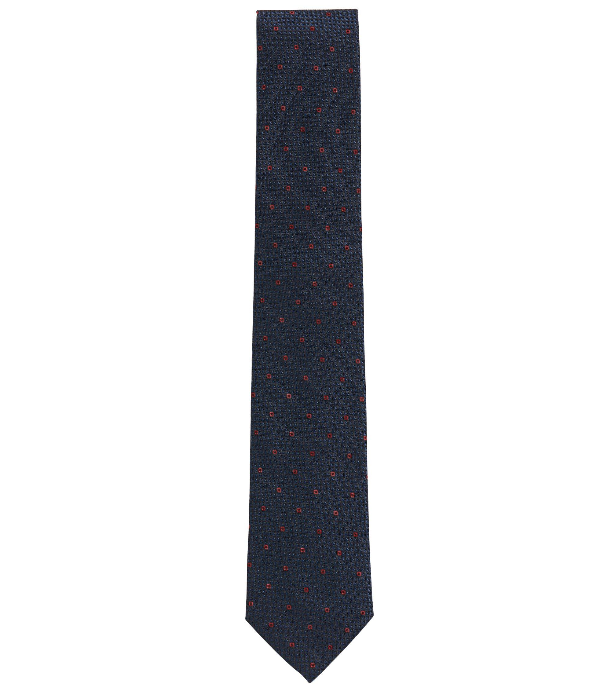 Gemusterte Jacquard-Krawatte aus Seide, Rot