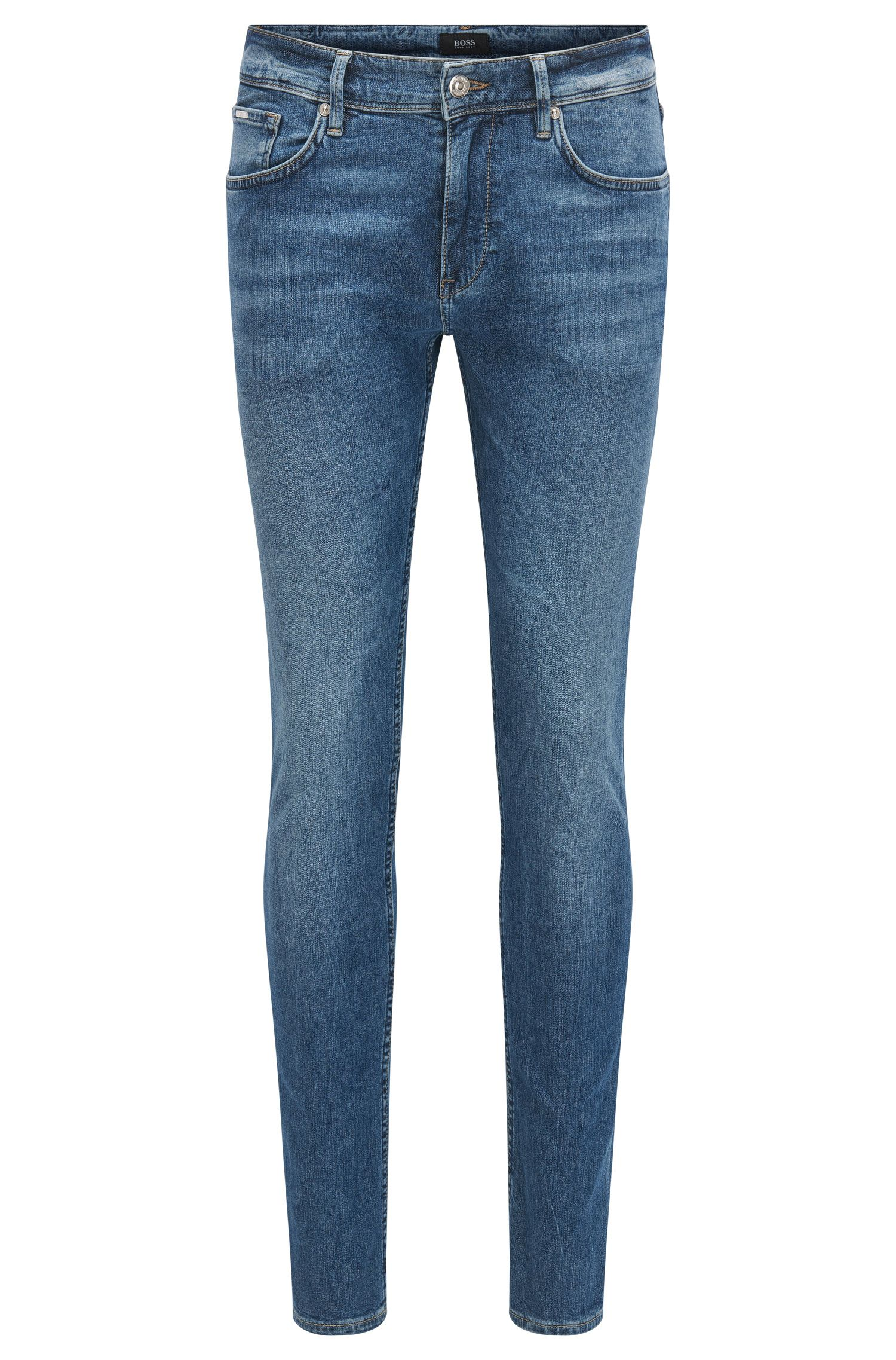 Slim-fit jeans in lightweight mid-washed denim