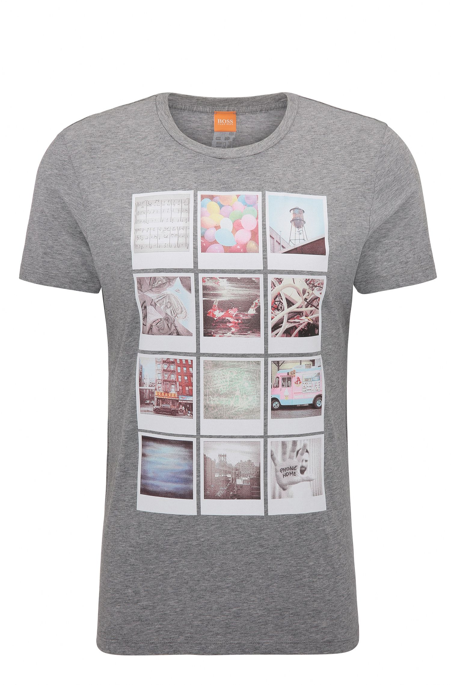 T-shirt Regular Fit en coton à imprimé de style polaroïd