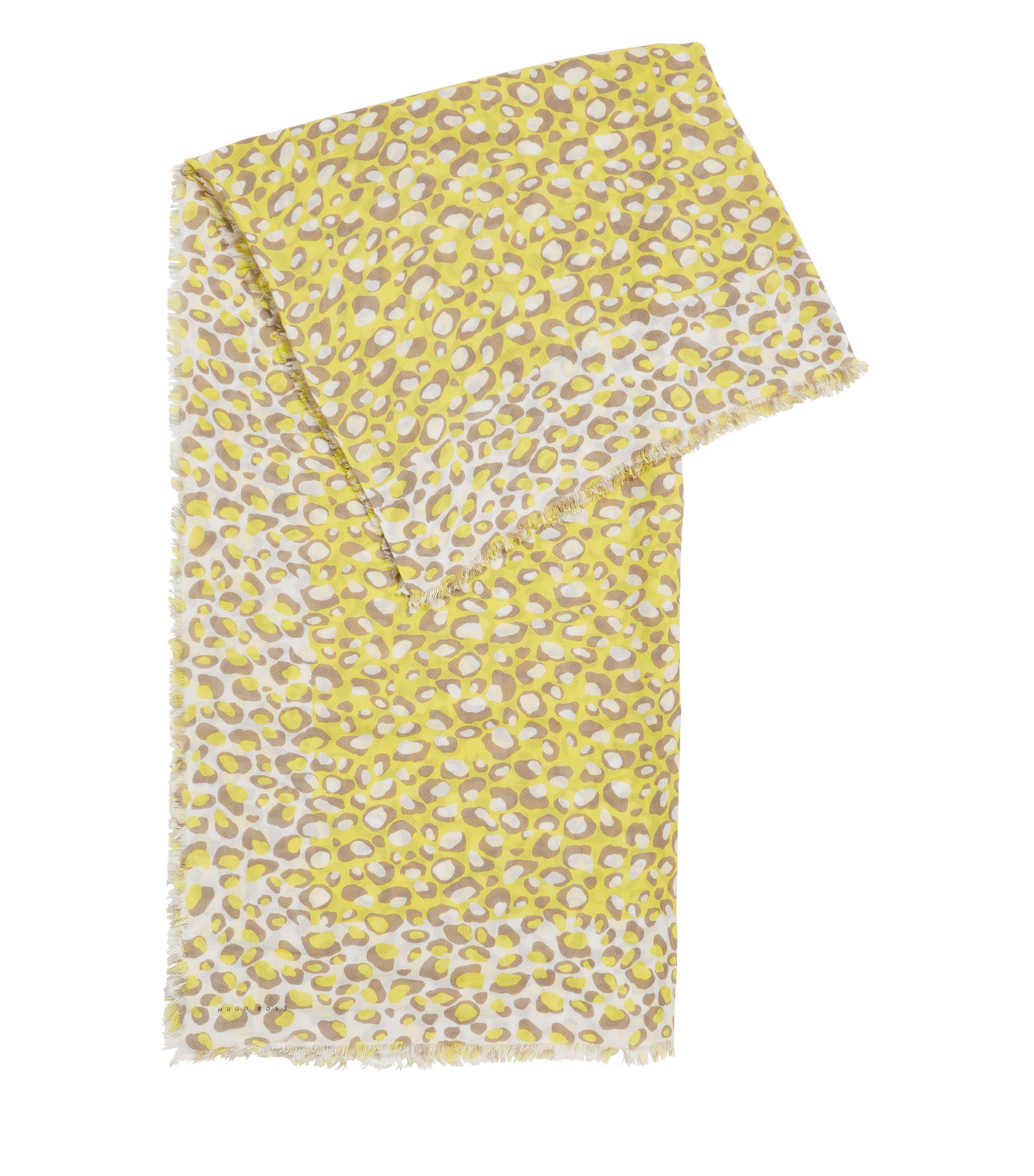 Rechthoekige sjaal met opvallende giraffeprint, Bedrukt