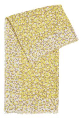 Écharpe rectangulaire avec imprimé de girafe audacieux, Fantaisie