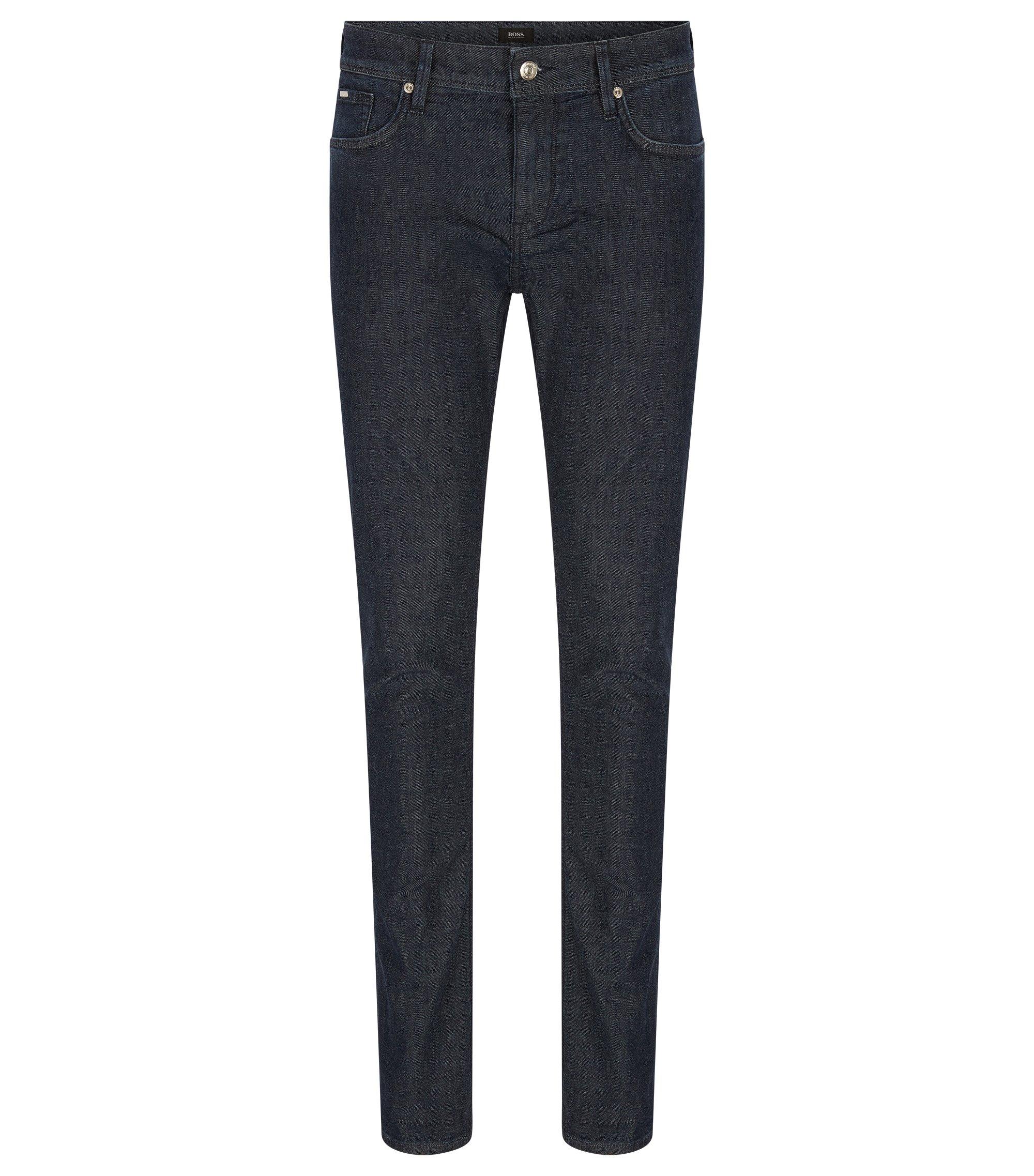 Slim-fit jeans van middelzwaar stretchmateriaal, Donkerblauw