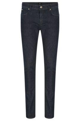 Jeans Slim Fit en tissu stretch de poids moyen, Bleu foncé