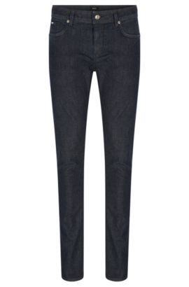 Slim-fit jeans in mid-weight stretch fabric, Dark Blue