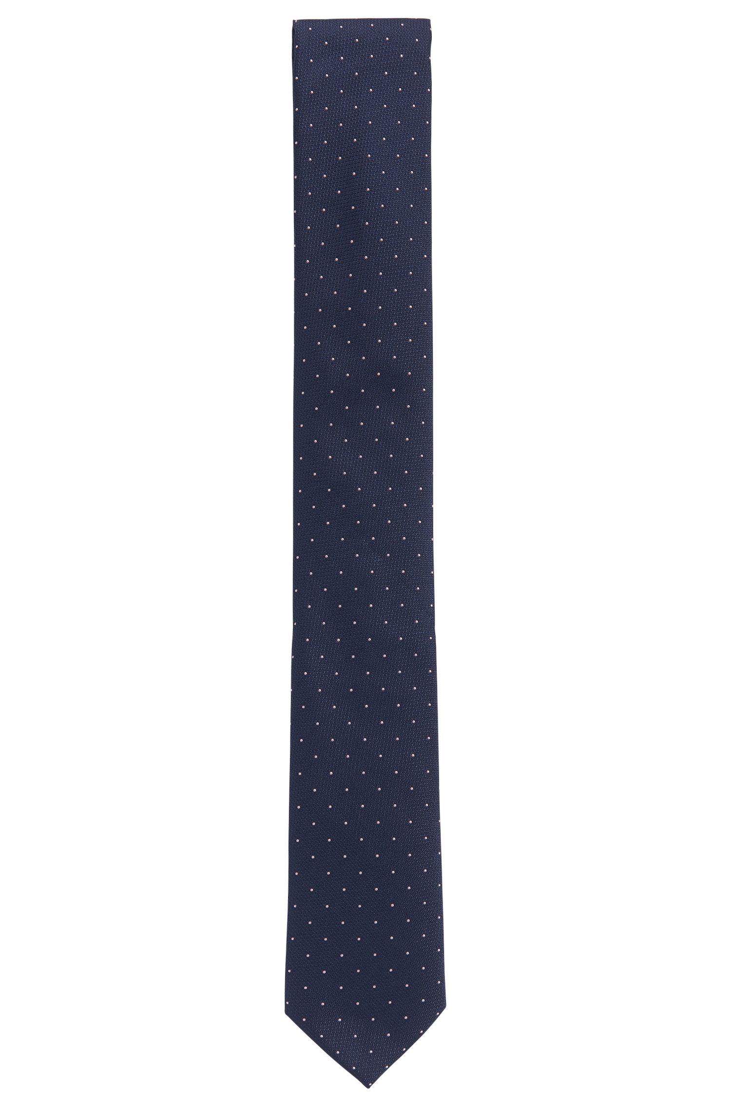 Cravate jacquard en soie fine à motif