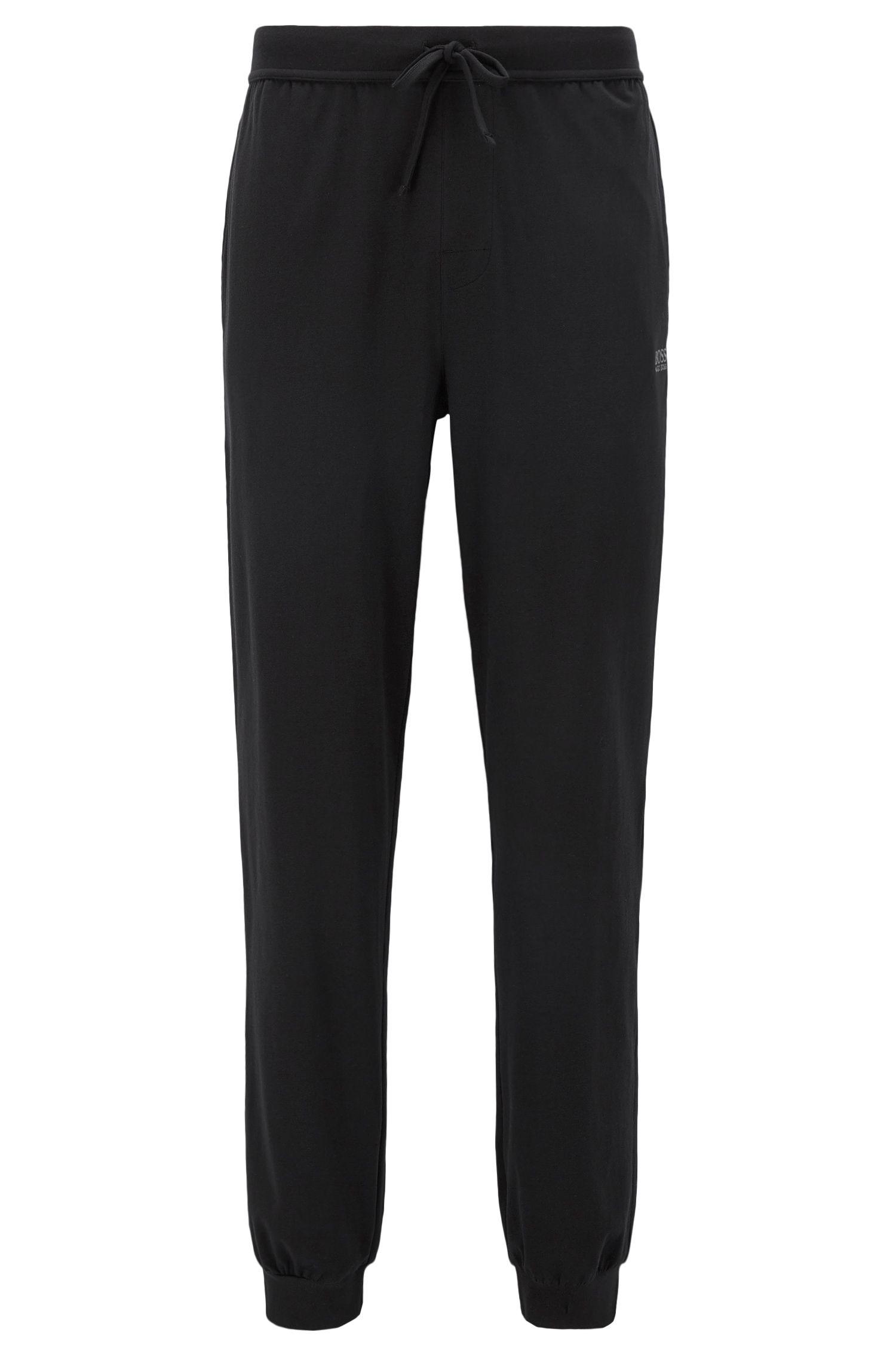 Loungewear-Hose aus Stretch-Baumwolle mit Tunnelzug