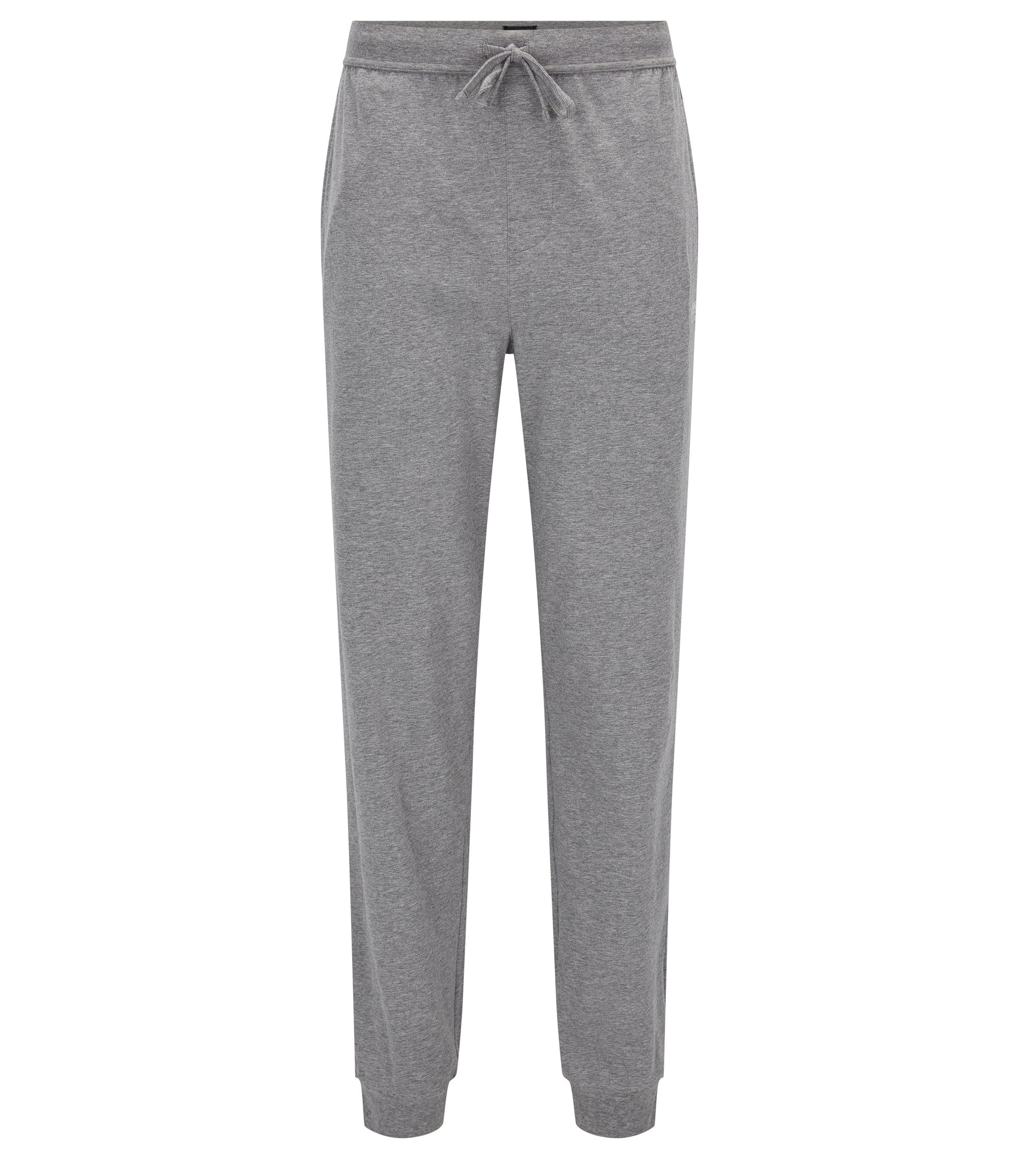 Drawstring loungewear bottoms in single jersey, Grey