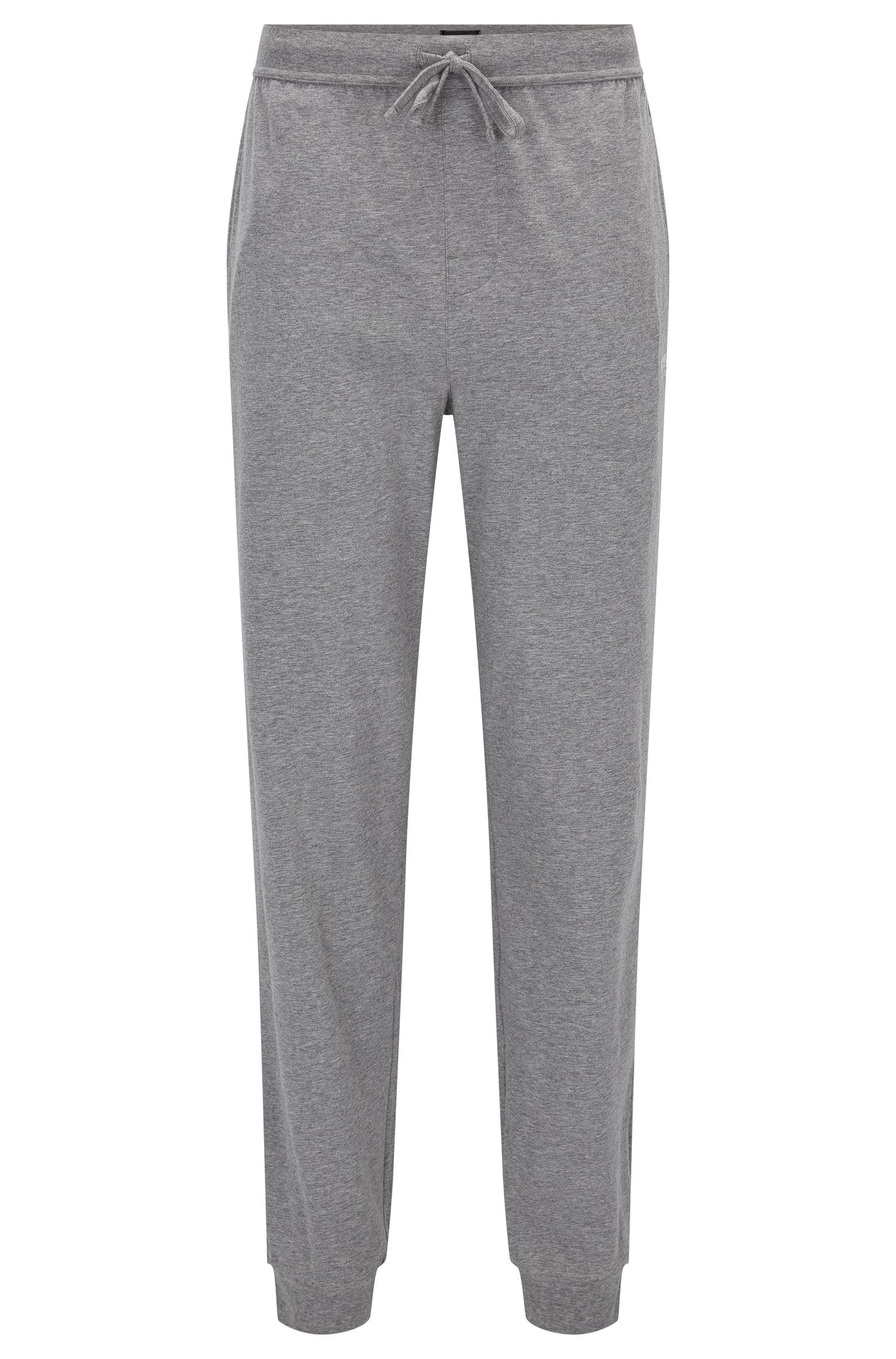 Drawstring loungewear bottoms in single jersey
